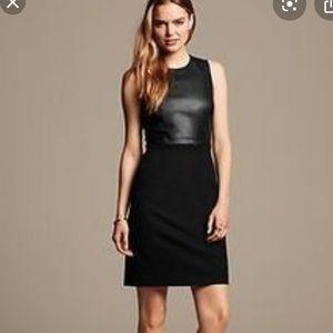 Banana Republic Black Leather Dress